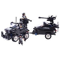 Đồ Chơi Lắp Ghép Xếp Hình Biệt Đội SWAT C0530 Với 448 Chi Tiết - Tặng Kèm 01 Tranh Ghép Bằng Gỗ.