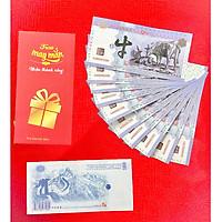 (10 TỜ) Tiền con trâu Trung Quốc 100 lưu niệm lì xì Tết Tân Sửu, tặng kèm bao lì xì mỗi tờ, The Merrick Mint