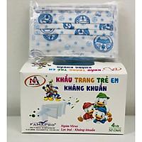 Khẩu trang trẻ em kháng khuẩn Famapro (Hộp 50 cái - Màu xanh Đôrêmon