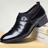 Giày Da Công Sở Giày Tây Nam Cao Cấp - Kiểu dáng sang trọng kết hợp da và vải canvas.