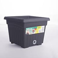 Chậu hoa nhựa vuông BABA BI-SQ-200-ZB hàng nhập khâu Malaysia thân thiện với môi trường không độc hại (Dụng cụ làm vườn)