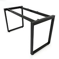 Bộ chân sắt Rectang hình chữ nhật sơn tĩnh điện màu đen 1200x580x730mm lắp ráp