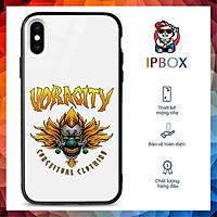 Ốp Lưng Kính Iphone In Hình Đầu Lâu IPBOX Cho Iphone 12/11/ProMax/Mini/6/6S/7/8/8P/7P/6P/6Sp/X