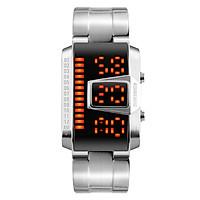 SKMEI 1179 Digital LED Rectangular Men Watch 5ATM Waterproof Casual Sports Wristwatch Week Calendar Male Watch for