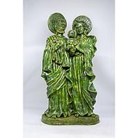 Tượng gia đình Thánh Gia của Chúa Giêsu, Đức Mẹ Maria và Thánh Giuse bằng đá xanh