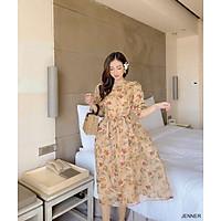 Đầm maxi hoa thắt nơ thiết kế napubee - váy maxi - đầm dự tiệc JENNER DRESS