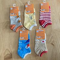 Combo 5 đôi tất chống trượt sợi cotton K-TomTom Baby | Size SS, S, M, L cho bé 6 tháng - 8 tuổi | Hàng Việt Nam | Tất chống trượt cho bé | vớ trẻ em