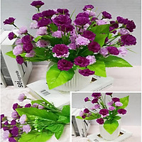 Hoa lụa giả Chùm hoa ConChong màu tím trang trí