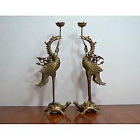 Đôi hạc thờ cao 60cm hun giả cổ