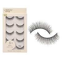 Anself 5 Pairs 3D Fake Eyelashes False Eyelashes Handamde for Eye Makeup Natural Long Thick Lashes Extension Makeup Tool