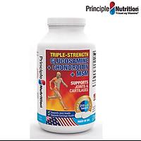 Viên hỗ trợ giảm đau TRIPLE-STRENGTH GLUCOSAMINE PRINCIPLE NUTRITION USA phục hồi chức năng sụn khớp xương tăng tiết dịch ổ khớp và giảm co thắt cơ bắp