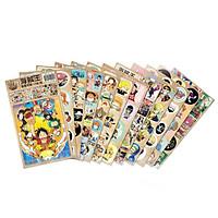 Combo 12 tấm dán ảnh One Piece Đảo Hải Tặc Luffy Mũ Rơm
