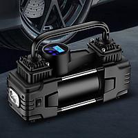 Máy bơm lốp ô tô đồng hồ điện 12V 350W 2 pít tông, Bơm lốp xe hơi, bơm vỏ xe Sedan, SUV, Bán tải, Xe tải nhỏ