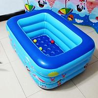 [HÀNG LOẠI 1] Bể bơi phao bơm hơi kích thước dài 2m1 rộng 1m40 cao 60cm 3 tầng hàng chuẩn dày bền, dễ dàng lắp và bảo quản