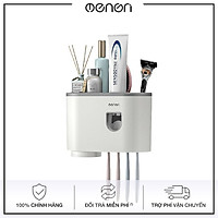 Giá treo bàn chải kem đánh răng nhà tắm OENON, Bộ nhả kem tự động 1 cốc - OEKEM