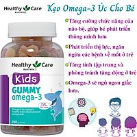 Omega-3 Úc Cho Bé Healthy Care Gummy Omega-3 Dạng Kẹo Dẻo Giúp Phát Triển Não Bộ Tăng Khả Năng Nhận Thức, Tập Trung Và Ghi Nhớ Tăng Hệ Miễn Dịch, Bổ Cho Tim Và Mắt – Hộp 250 Viên