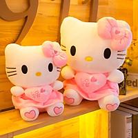 Gấu bông mèo Hello Kitty váy hồng kích thước 30-40-55cm