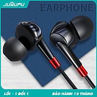 Tai nghe có dây JUYUPU M3 cao cấp jack 3.5mm nhét tai chống ồn dành cho iPhone Samsung OPPO VIVO HUAWEI XIAOMI - HÀNG CHÍNH HÃNG
