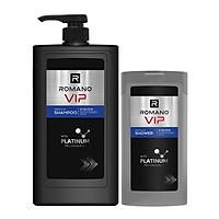 Dầu Gội Nước Hoa Cao Cấp Romano Vip Vision 650ml Tặng Kèm Sữa Vip Vision 150ml