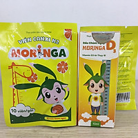 COMBO Dầu Chùm Ngây Moringa D3 (phòng chống còi xương, chậm lớn cho trẻ) - tặng kèm 1 gói Viên Canxi K2 Moringa (bổ sung canxi)