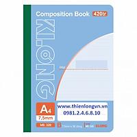 Sổ may dán gáy A4 - 420 trang; Klong 320 xanh biển