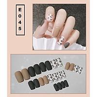 Bộ 24 móng tay giả nail thời trang họa tiết bắt mắt chống thấm nước (E045)