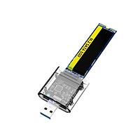 Hộp đựng ổ cứng USB3.0 Gen1 SATA SSD di động M.2 NGFF Hỗ trợ SATA B-KEY M.2 SSD - Trong suốt