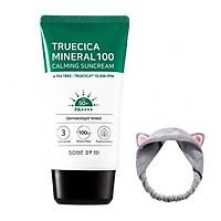 Kem Chống Nắng Some By Mi Truecica Mineral 100 Calming Suncream SPF50+/PA++++ (50ml) + Tặng Kèm 1 Băng Đô Tai Mèo Xinh Xắn ( Màu Ngẫu Nhiên)