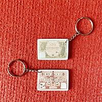 Móc khóa cute - Hình Tiền cổ 100 đồng Thành Thái thời Pháp bằng Mica