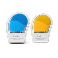 Combo 2 Máy Rửa Mặt Và Mát Xa Da Mặt Halio Sky Blue + Mustard (xanh + vàng)
