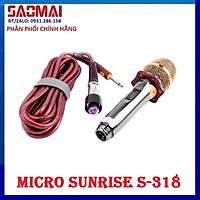 Micro dây khóa vặn KARAOKE gia đình, sân khấu, hội thảo SUNRISE S-318 - Hàng nhập khẩu