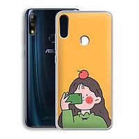 Ốp lưng dẻo cho điện thoại Zenfone Max Pro M2 - 01219 7899 GIRL01 - in hình chibi dễ thương - Hàng Chính Hãng