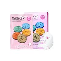 Hộp 10 mặt nạ chống lão hóa - ngừa mụn - săn chắc da Rainbow L'affair Multi-Care V5 Firming Vitamin 250ml