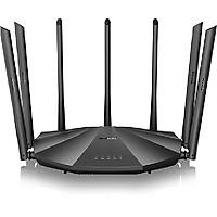 Bộ Phát Wifi Tenda AC23 Chuẩn AC2100Mbps 7 Râu Xuyên Tường Có Cổng Lan Gigabit Tặng Cáp Mạng Dài 2m 8 Lõi Đồng - Hàng Chính Hãng