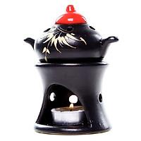 Đèn xông tinh dầu nến ấm trà Lasante DN-02