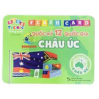 Thẻ Học Song Ngữ Anh- Việt Flash Card  Cho Trẻ Nhận Biết Quốc Kỳ Các Quốc Gia 5 Châu Lục- Thẻ Học Phát Triển Tư Duy