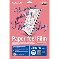 Miếng dán màn hình cho Ipad Pro 12.9 inches Elecom Paper- Feel TB-A18LFLAPL-W - Hàng chính hãng