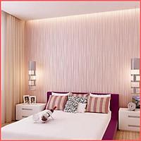 Giấy dán tường vân chỉ hồng có keo sẵn khổ rộng 45cm, Decal giấy dán tường mặt sau có keo màu hồng sang trọng -