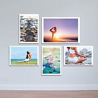 Bộ 5 Tranh yoga và cuộc sống | Tranh treo tường phòng tập W1964