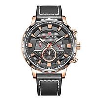 MIZUMS Men Business Watch Fashion Alloy Case Leather Band Watch Exquisite 3 ATM Waterproof Quartz Wrist Watch