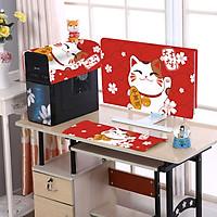 Khăn phủ cho máy tính để bàn BaoAn chất liệu Flannel siêu mềm phù hợp với máy tính có kích thước màn hình 24in trở xuống