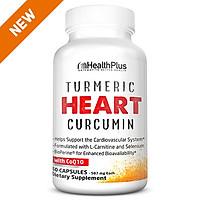 Turmeric Heart | SỨC KHỎE TIM MẠCH, 300mg Bột rễ nghệ và 75mg Curcumin với 100mg CoQ10, 400mg L-Carnitine, 135mcg, Vitamin K2, 100mg Omega3, Selenium - Hỗ trợ cho sức khoẻ tim mạch, giúp hỗ trợ hoạt động thường ngày của hệ thống tim mạch Chai 60 Viên