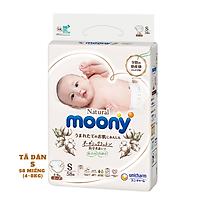 Tã/Bỉm dán Moony Natural Size S- 58 miếng( bé 4- 8kg)