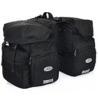 50L Bike Panniers Bag Waterproof Rear Seat Bicycle Bag Trunk Bags Saddle Bag With Rain Cover For Travel Camping