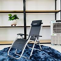 Ghế xếp thư giãn cao cấp SUMIKA 179 - Khóa bằng kim loại, vải lưới Textilene thoáng khí, tải trọng 300kg, có khay đựng ly, dụng cụ tiện lợi, khung ghế bằng thép không gỉ, đế chống trượt
