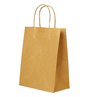 Kraft Paper Bags with Handles for Birthday Gift Wedding Parties Shopping Boutique Bag Grocery Retail 10PCS