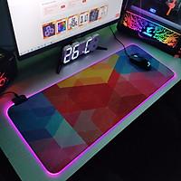 Bàn di chuột, lót di chuột tích hợp Led RGB sáng viền,phiên bản Overlay 2 kích thước 80cm x 30cm dày 4mm