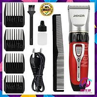 Tông đơ cắt tóc Jichien JC-0817 hàng cao cấp - tặng kèm lược và chổi vệ sinh máy