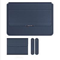 Túi chống sốc bao da laptop dành cho macbook kiêm giá đỡ tản nhiệt kèm ví đựng sạc chuột
