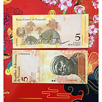 Tờ tiền hình con Tê Tê 5 Bolivares của Venezuela xưa - The Merrick Mint